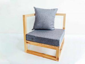Ghế Sofa Đơn Tay Vuông