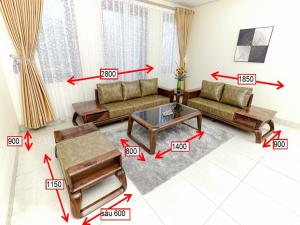 Sofa Gỗ Óc Chó Meila