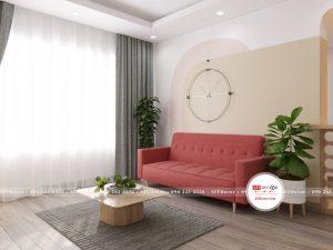 Sofa giường gấp Covy màu đỏ